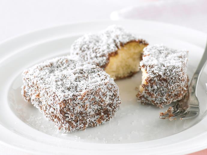 "[Lamingtons](https://www.womensweeklyfood.com.au/recipes/lamingtons-26793 target=""_blank"")"