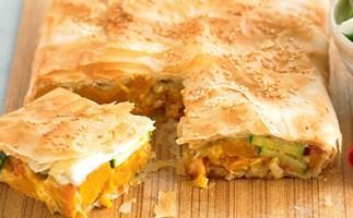 Caramelised Leek and Pumpkin Pie