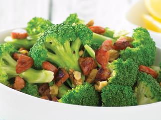 Broccoli with Chorizo and Walnuts