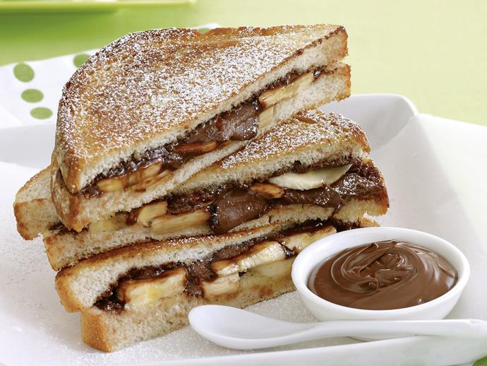 """**[Chocolate pan toasties](https://www.womensweeklyfood.com.au/recipes/chocolate-pan-toasties-21404