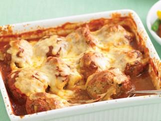 Italian baked meatballs