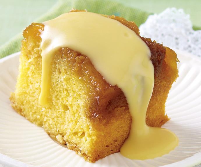 Pretty easy - pineapple cake with coconut custard