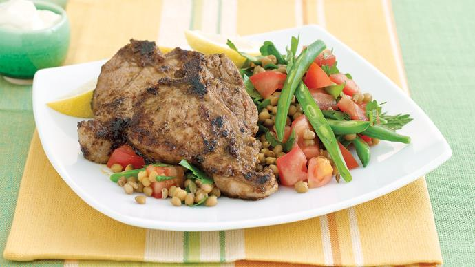 Save in the side - Chermoulla lamb with beans