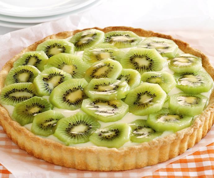 Sweet ideas - Kiwifruit custard tart