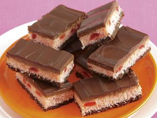 Sweet secrets - Chocolate fudge and cherry slice