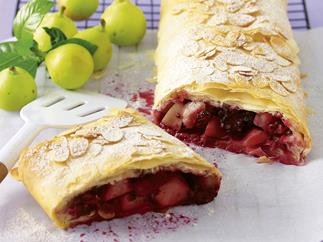 pear and blackberry strudel