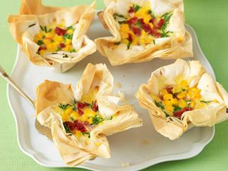 Tasty bakes - corn and sun dried tomato tartlets