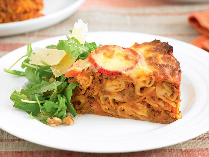 """This delicious [bolognese pasta bake](https://www.womensweeklyfood.com.au/recipes/bolognese-pasta-bake-21023