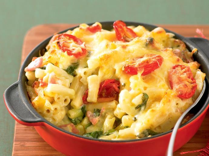 "[Cheesy bacon macaroni recipe.](http://www.foodtolove.com.au/recipes/cheesy-bacon-macaroni-9761 target=""_blank"")"