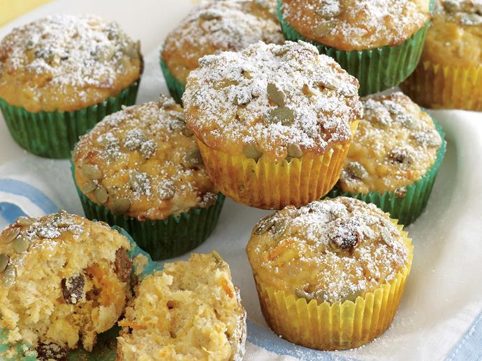 """**[Carrot and apple muffins](https://www.womensweeklyfood.com.au/recipes/carrot-and-apple-muffins-21155