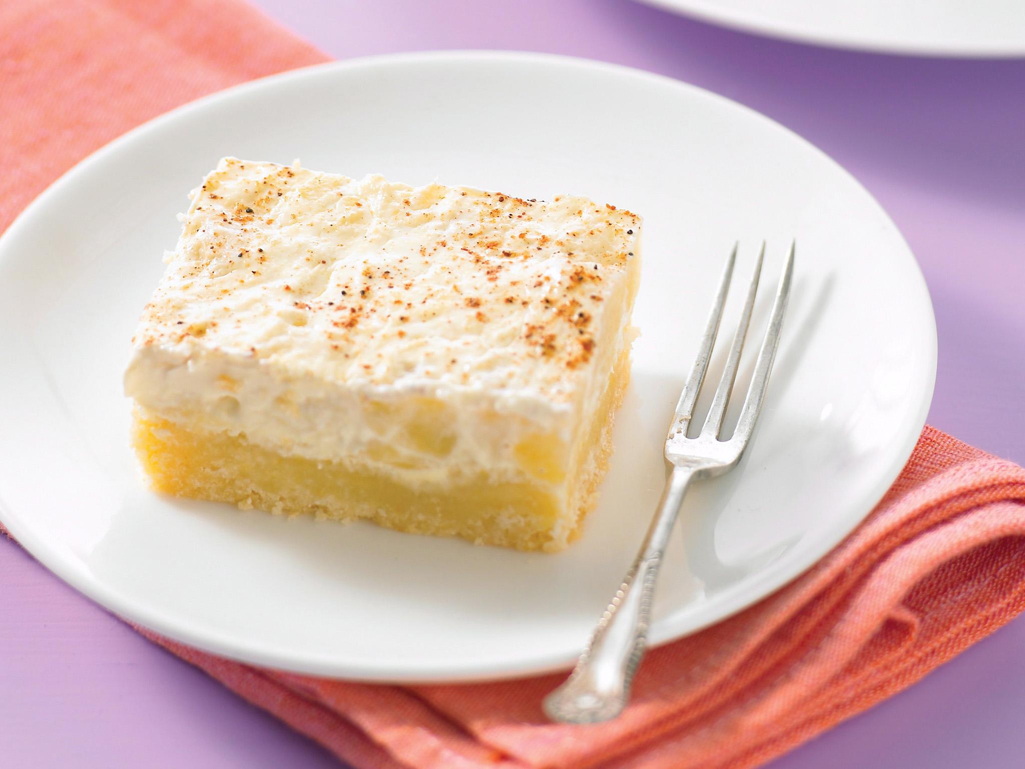 Apple Sour Cream Slice No Cake Mix