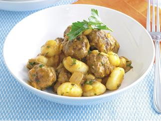 Meatball Stroganoff with Gnocchi
