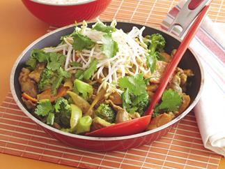 Satay Pork and Broccoli Stir-fry