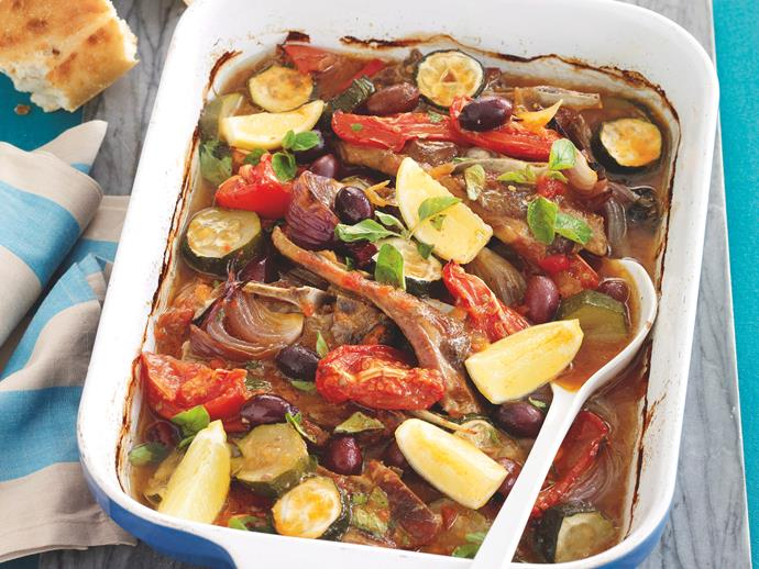 """**[Mediterranean lamb and zucchini bake](https://www.womensweeklyfood.com.au/recipes/mediterranean-lamb-and-zucchini-bake-26299