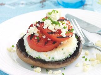 Mushroom Egg-white Omelet Stack