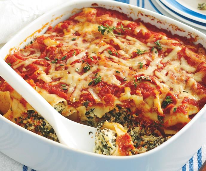 Silverbeet and Ricotta Cannelloni
