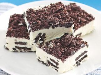 Frozen choc treat - Cookies and cream Ice cream slice