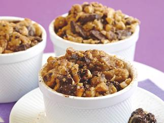 Chocolate and Hazelnut Crumbles