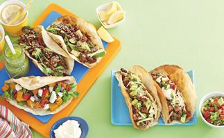 Chilli Beef and Bean Tacos