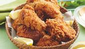 Crisp fried chicken