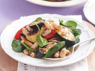 Greek-style Marinated Haloumi Salad