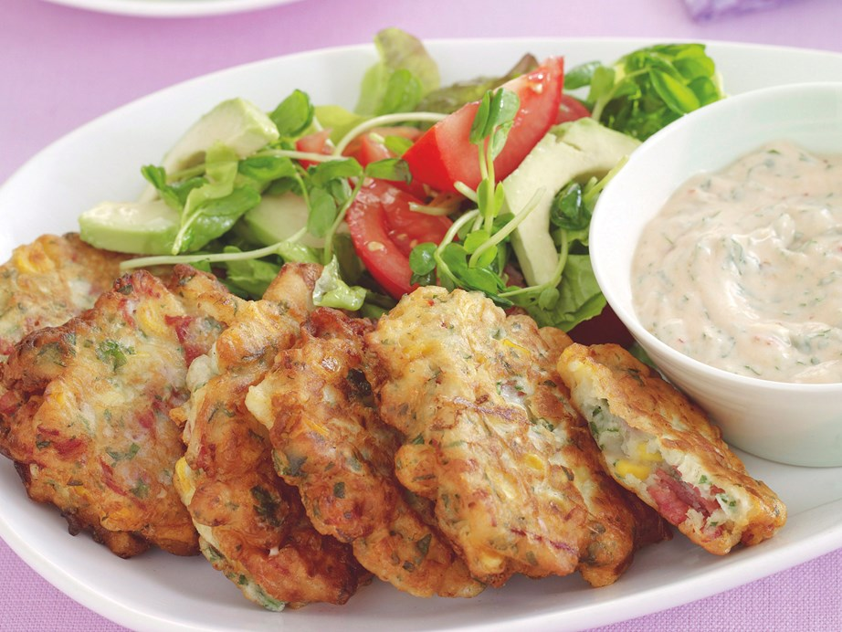 """**[Silverside fritters](https://www.womensweeklyfood.com.au/recipes/silverside-fritters-7699