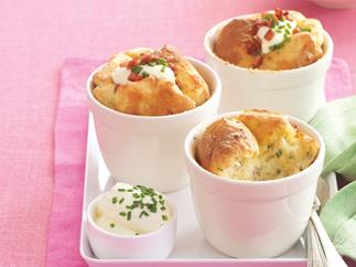 Cheesy Bacon and Potato Bakes