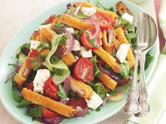 Greek-style Schnitzel Salad
