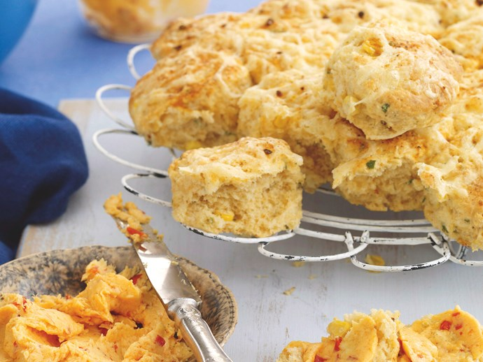Mexican Corn Scones with Sweet Chilli Butter