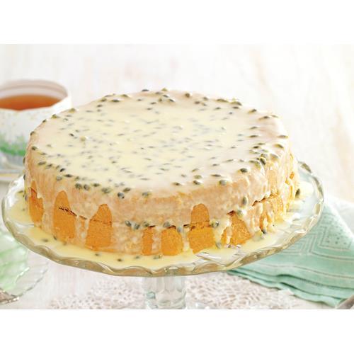 Passionfruit Icing Sponge Cake