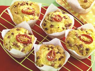 High-top Cheese and Bacon Muffins