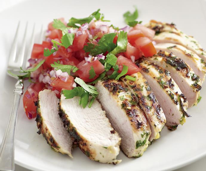 Grilled Chilli Chicken with Tomato Salsa