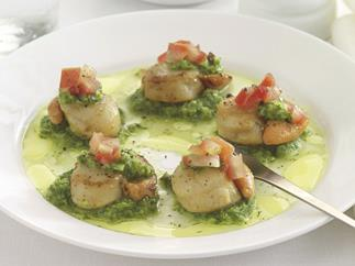 Scallops with Salsa Verde