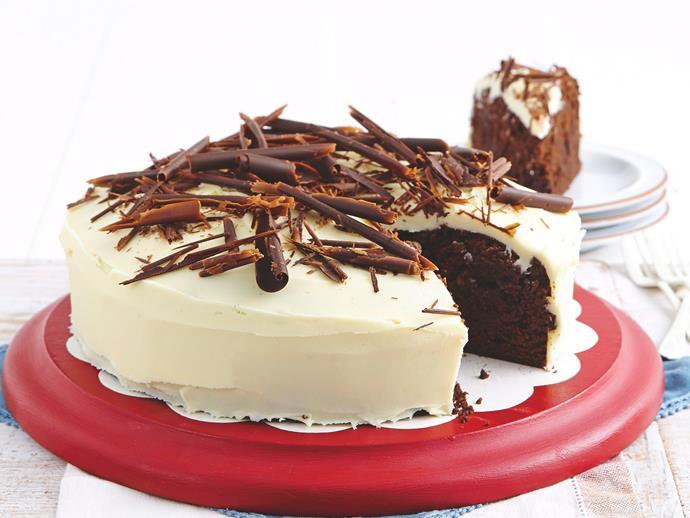 "**[Chocolate mud cake with white chocolate ganache](https://www.womensweeklyfood.com.au/recipes/chocolate-mud-cake-20266|target=""_blank"")**  Rich and glorious."