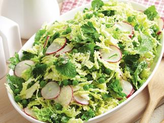 Minted Peas and Cabbage Coleslaw