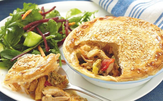 Satay Chicken Pies