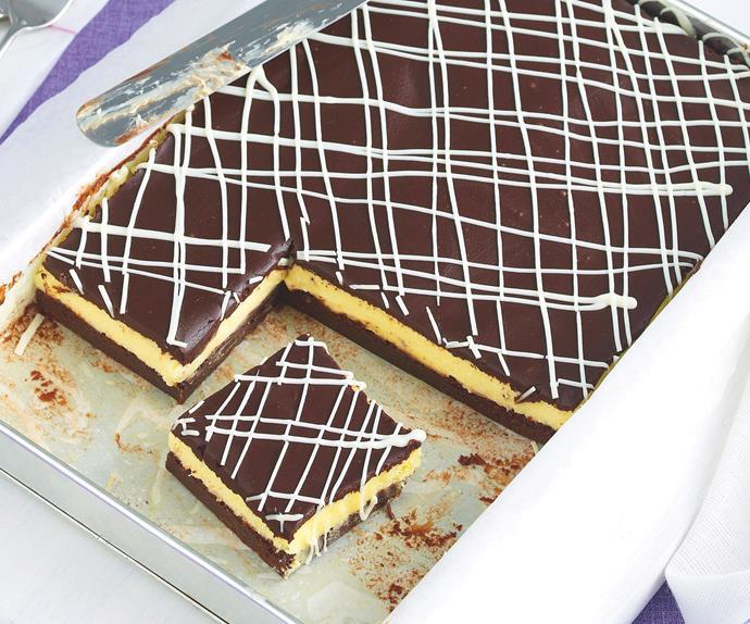 Double Choc Cheesecake Slice