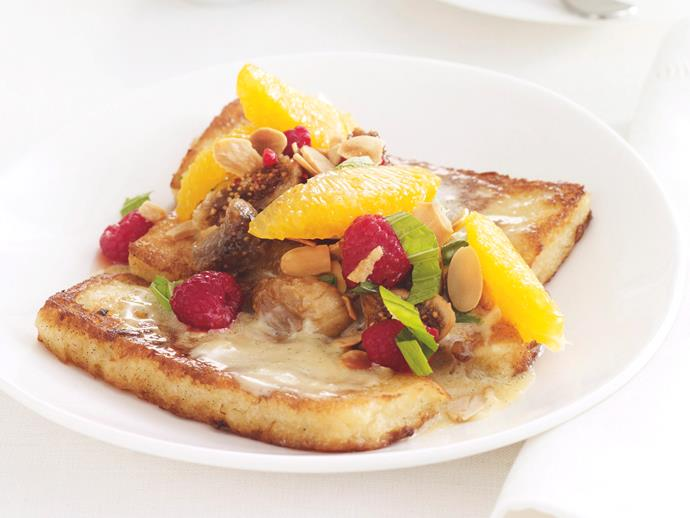 """**[Sweet camembert french toast](https://www.womensweeklyfood.com.au/recipes/sweet-camembert-french-toast-26357