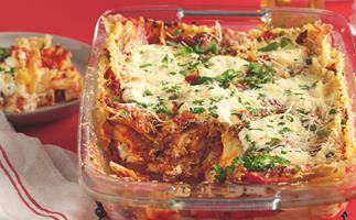 Beef and ricotta lasagne