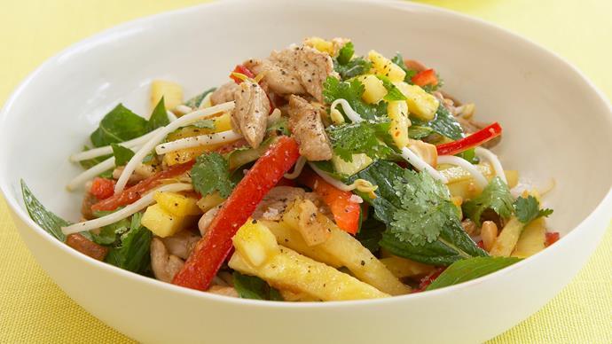 Asian pork and pineapple salad