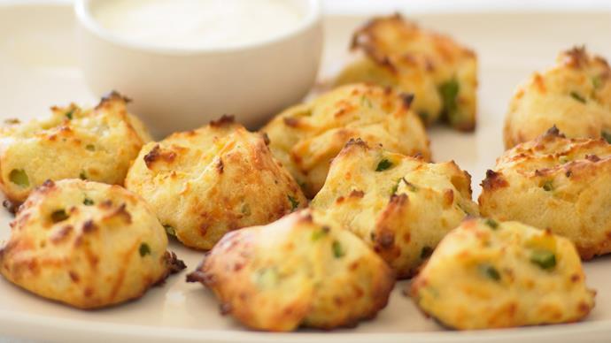 Asparagus and dijonnaise gougeres
