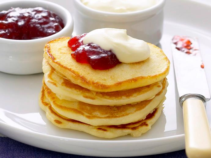"""These classic light and fluffy **[breakfast pikelets](https://www.womensweeklyfood.com.au/recipes/breakfast-pikelets-27803