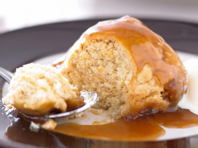 """**[Butterscotch dumplings](https://www.womensweeklyfood.com.au/recipes/butterscotch-dumplings-19951 target=""""_blank"""")**"""