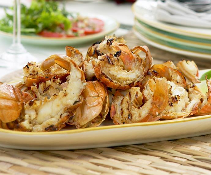 char-grilled lime and garlic balmain bug