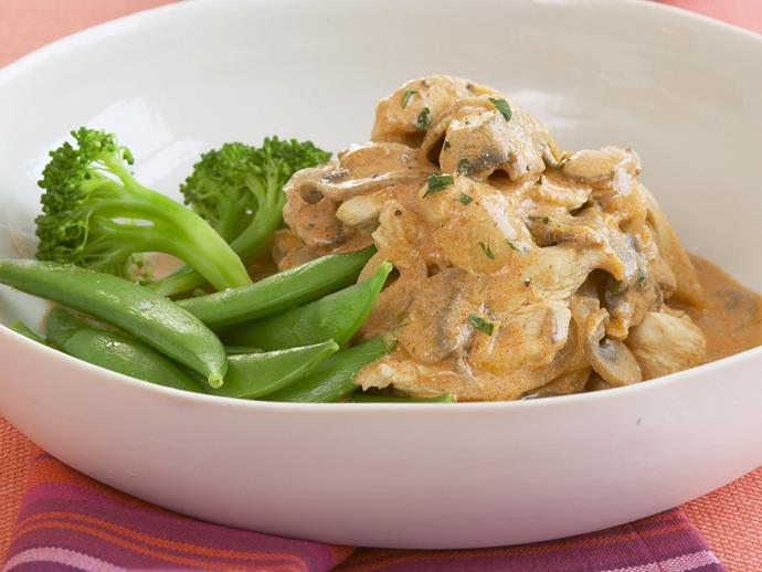 "[Chicken stroganoff recipe.](http://www.foodtolove.com.au/recipes/chicken-stroganoff-11166|target=""_blank"")"
