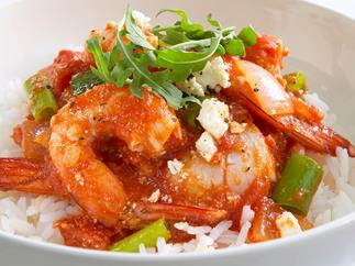 Chilli Tomato Prawns and Scallops
