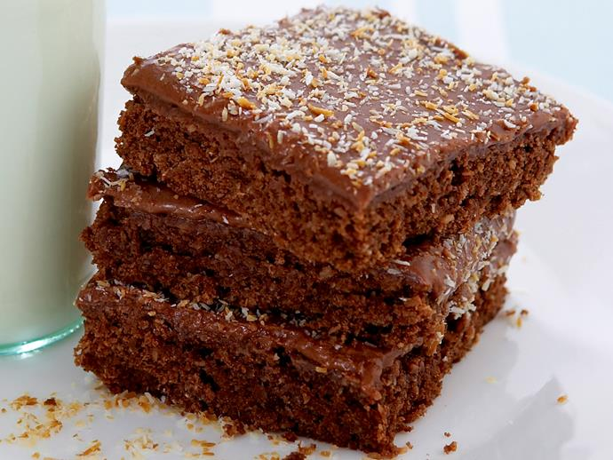 """**[Chocolate coconut slice](https://www.womensweeklyfood.com.au/recipes/chocolate-coconut-slice-19474