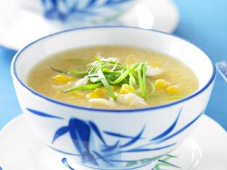 Crab and sweet corn soup