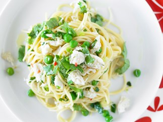 Crab, Chilli and Pea Spaghetti