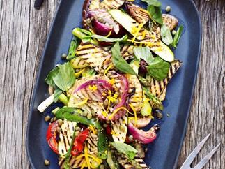 Barbecued vegetable salad